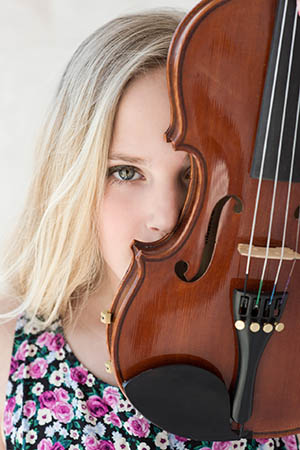 Caelyn with Violin